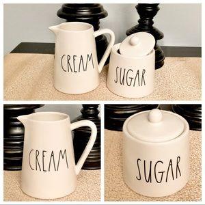 🆕Rae Dunn Ceramic SUGAR/CREAM Set